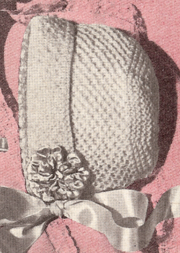Vintage Knitting Baby Patterns : Vintage Knitting PATTERN to make Honeycomb Baby Bonnet Cap Hat NWMKnitted