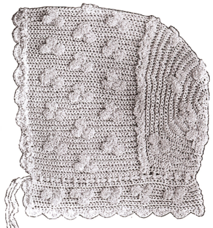 Vintage/Antique Crochet PATTERN 50 Baby Bonnet Hat Cap eBay