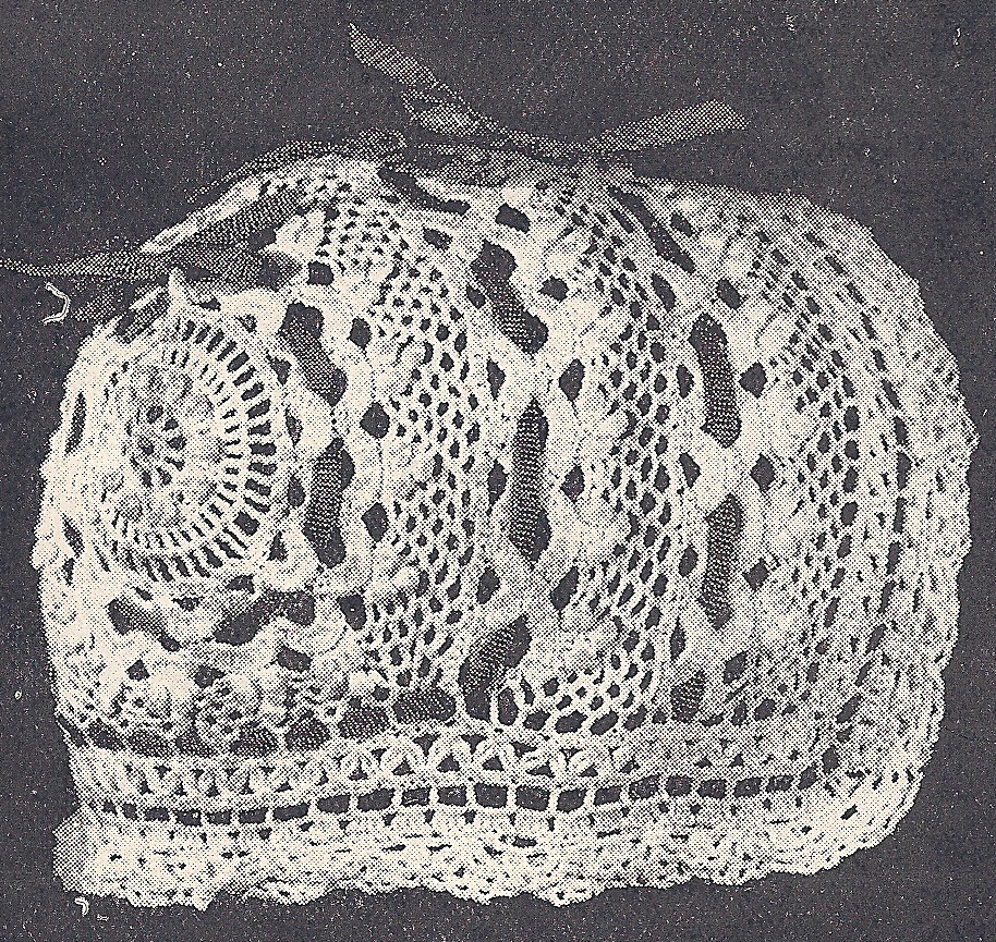 Crochet Patterns Ebay : Details about Vintage Crochet PATTERN to make Antique Baby Cap Hat ...