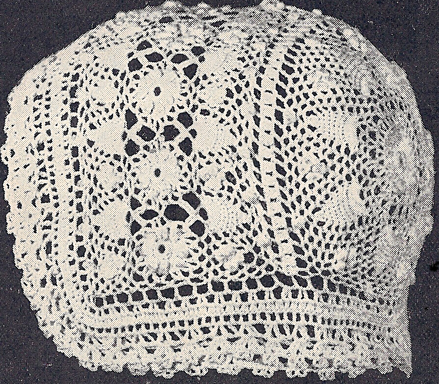 Vintage Antique Crochet Pattern To Make Baby Cap Hat
