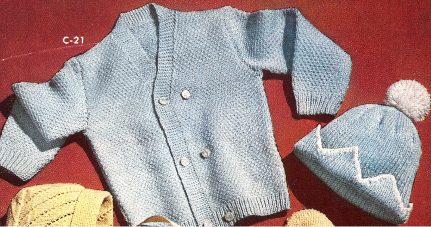 Knitting Pattern Sweater Boy : Baby Cap Hat Beanie Sweater Knitting Pattern Boy Set eBay