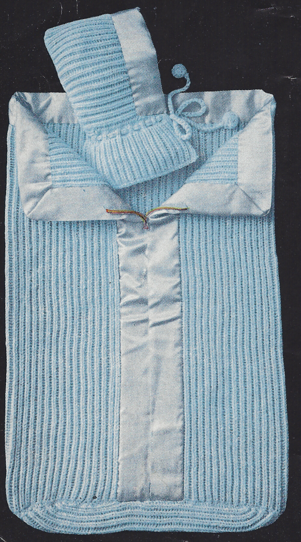 Knitting Pattern Sleeping Bag Baby : Vintage Knitting PATTERN to make Baby Sleeping Bag Zipper ...
