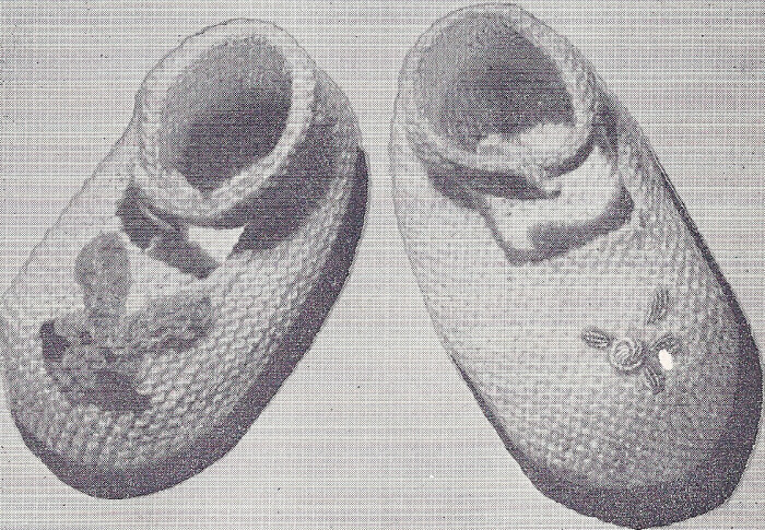 Vintage Knitting PATTERN Baby Booties Shoes Ankle Strap eBay