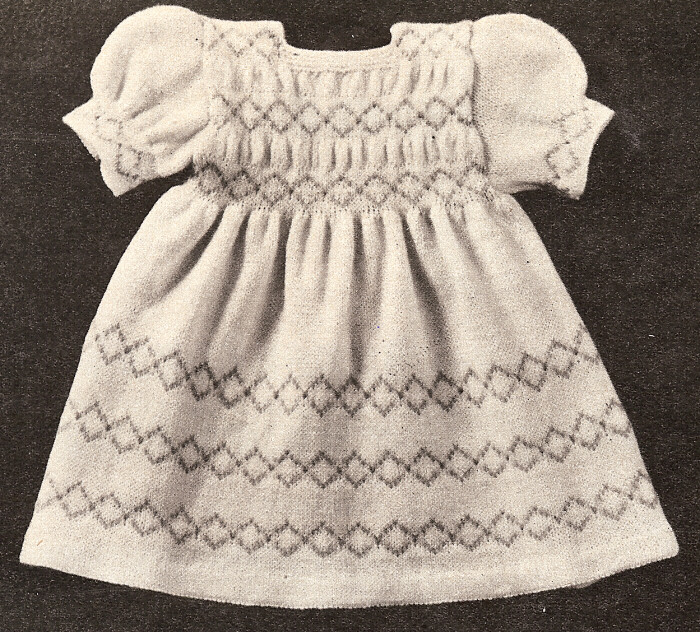 Vintage Knitting Patterns For Babies : Vintage Knitting PATTERN Baby Infant Dress 6 mos-1year eBay