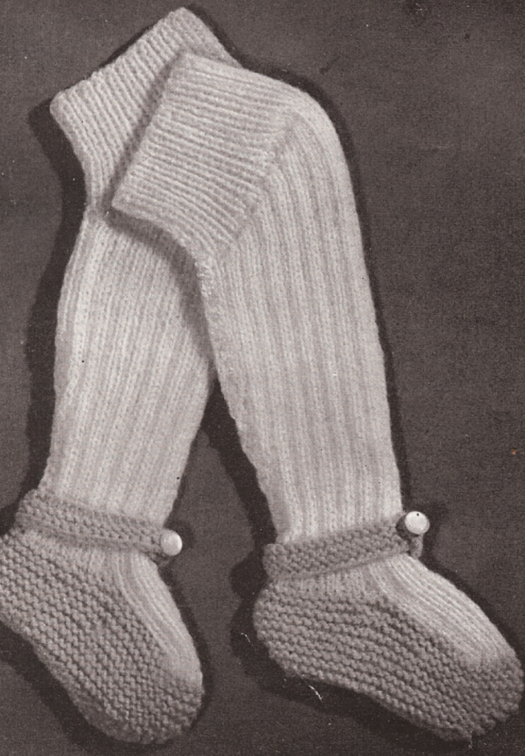 Tights Knitting Pattern : Vintage Baby Leggings Booties Socks knitting PATTERN