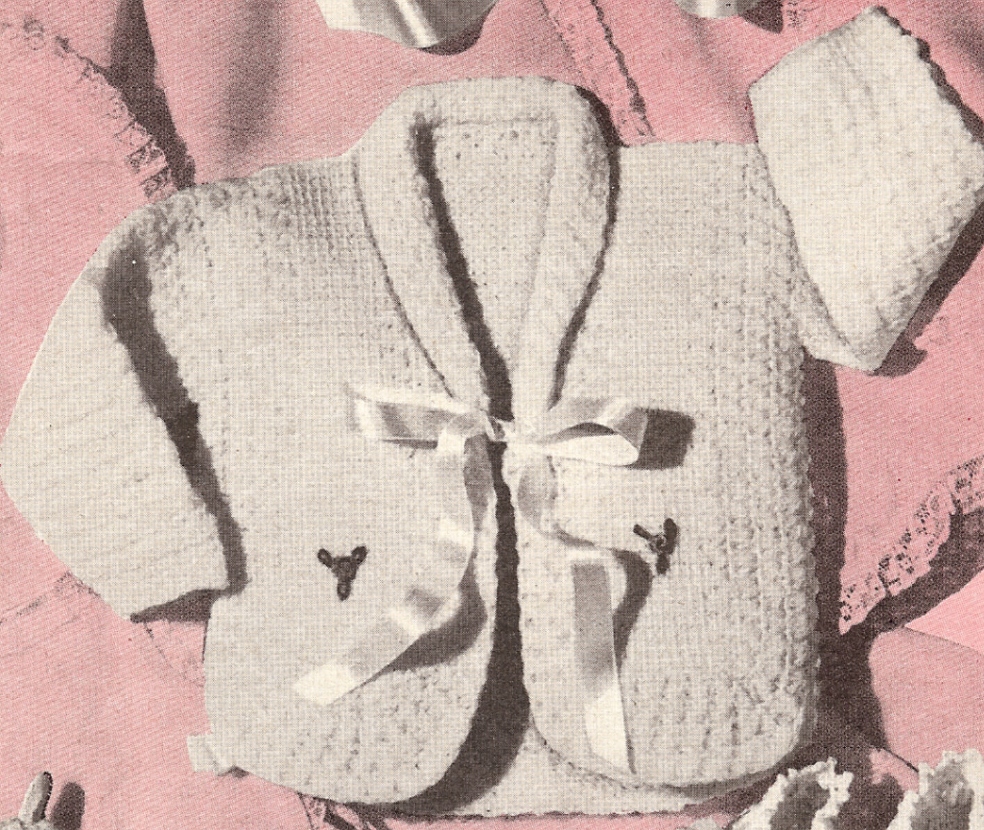 Vintage Crochet PATTERN to make: Infant Sweater (sacque) size 3 6 mos.