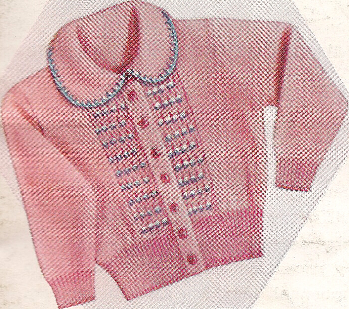 Toddler Jumper Knitting Pattern : Knitting PATTERN Knitted Baby Toddler Sweater Smocking eBay