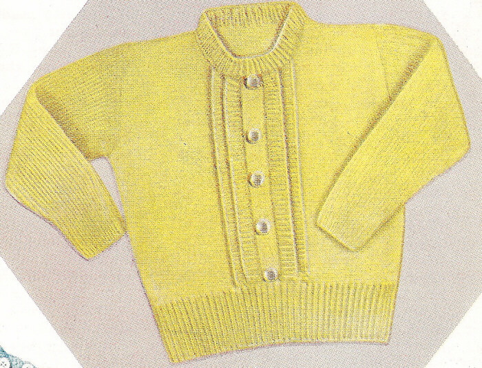 Toddler Knit Sweater Dress Pattern : Vintage Knitting PATTERN to make Baby Toddler Knitted Pullover Sweater Top ...