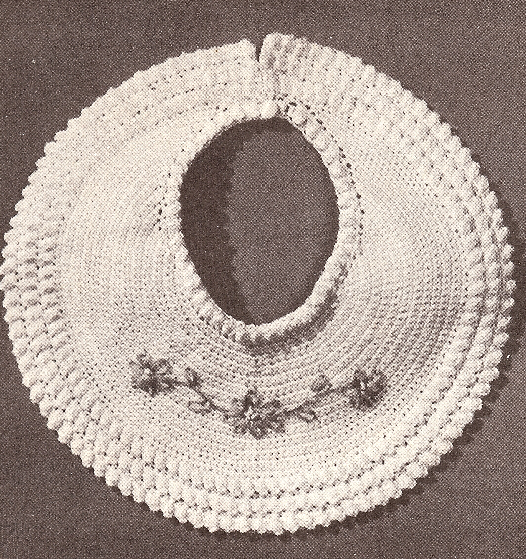Crochet Baby Bib Patterns : Vintage Crochet PATTERN to make Baby Bib Christening Fancy ...