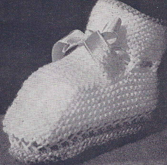 Vintage Knitting PATTERN Baby Booties Infant Shoes Boot