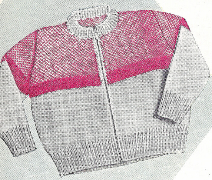 Free Knitting Pattern Zippered Cardigan : Knit Zipper Sweater Pattern - Gray Cardigan Sweater