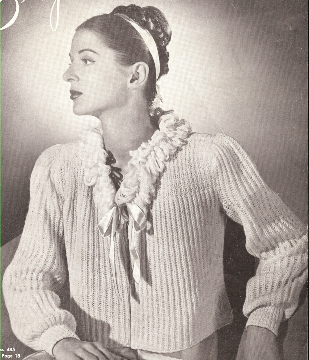 20 Vintage Bed Jacket Sweater Shrug Knitting PATTERN s eBay