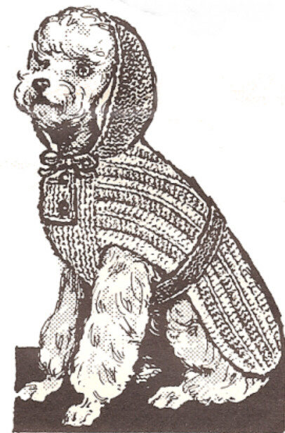 Knitting Patterns For Dog Hoodies : Vintage Knitting PATTERN to make Dog Sweater Coat Hoodie Blanket KnitDogHoodi...