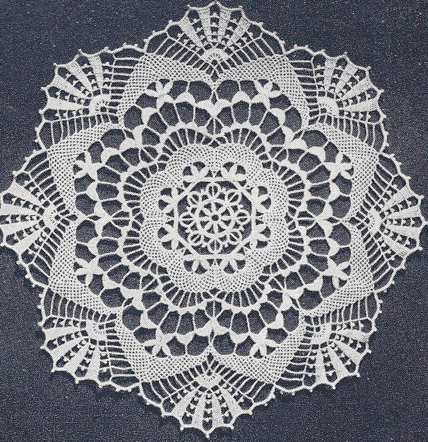 Vintage Crochet PATTERN to make Cluny Lace Doily Centerpiece Mat ...