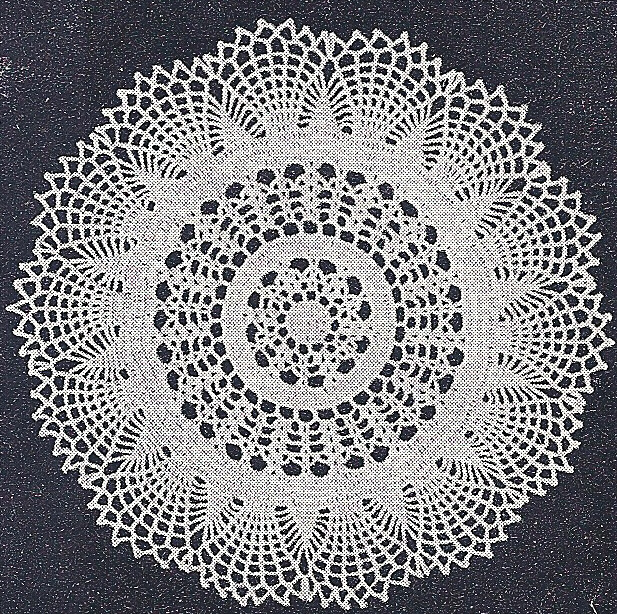 Antique Crochet Patterns : Details about Vintage Crochet PATTERN Traditional Glory Doily Motif