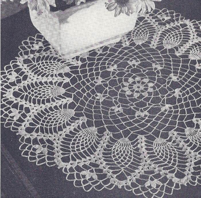 about Vintage Crochet PATTERN to make Pineapple Cornfield Doily ...