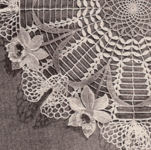 Details about Vintage Crochet PATTERN to make Daffodil Doily Flower ...