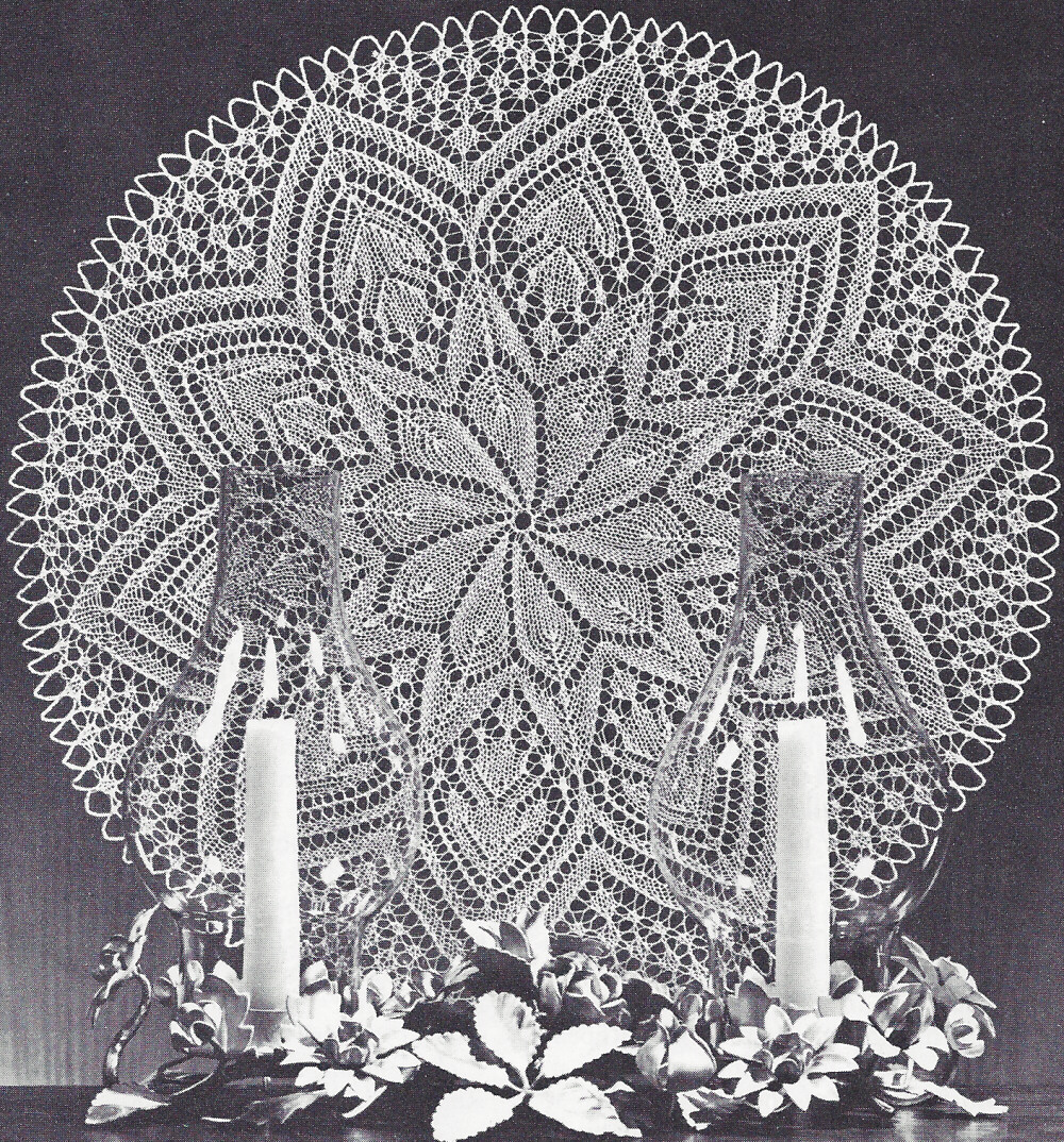 Knitting Patterns Lace Doilies : Vintage Knitting PATTERN to make Lace Doily Centerpiece ...