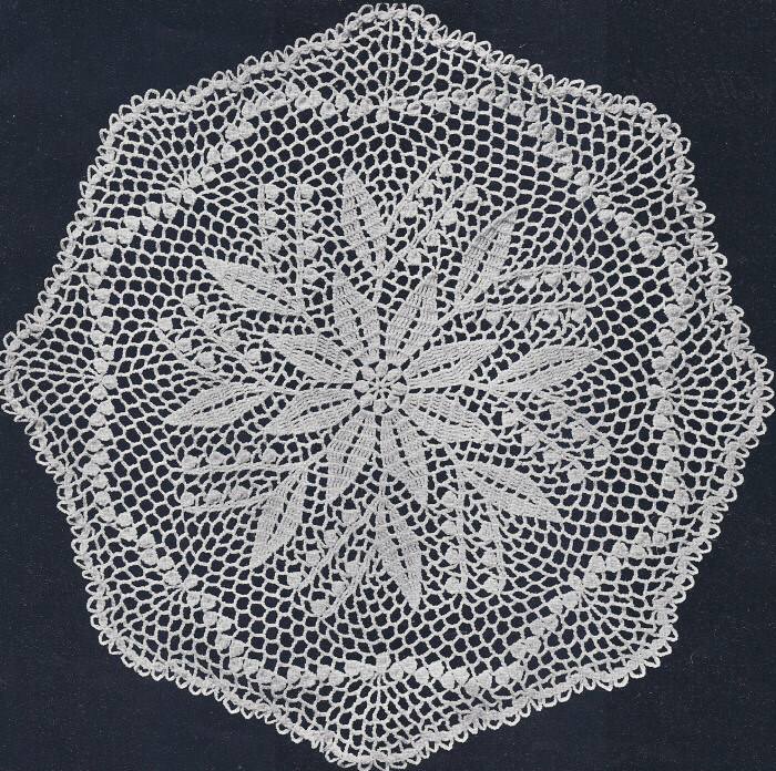 Crochet Patterns Vintage Doilies : Vintage Crochet Pattern Lily of The Valley Doily Motif eBay