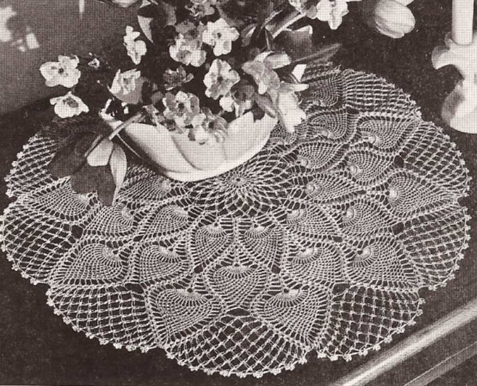 Crochet Patterns Vintage Doilies : Vintage Crochet Pineapple Doily Centerpiece PATTERN 2 eBay