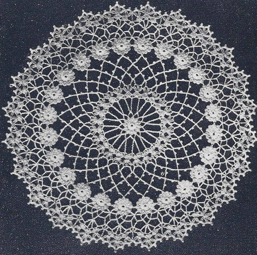 Vintage Crochet PATTERN to make Irish Rose Doily Mat ...