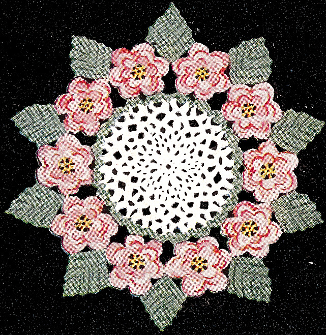 Irish Doilies Crochet Free Patterns : Vintage Crochet PATTERN to make Irish Rose Flower Leaf ...