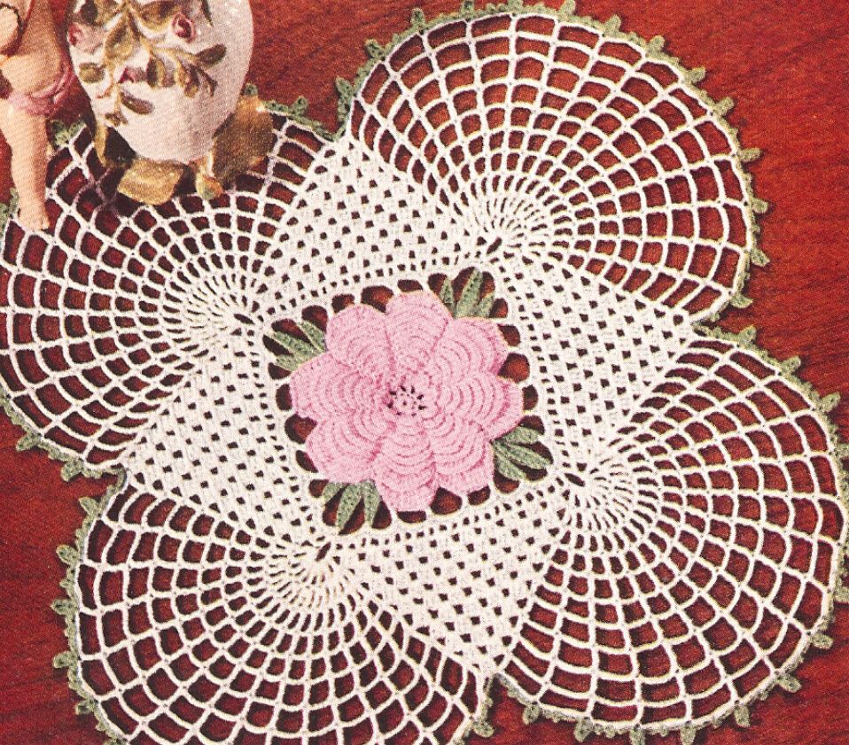 Crochet Patterns Vintage Doilies : Vintage Crochet PATTERN to make Irish Rose Motif Square ...