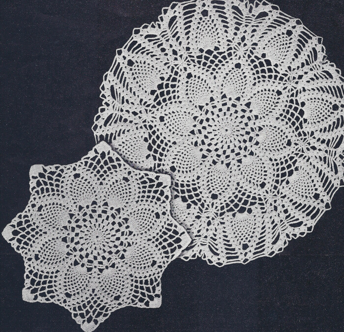 Crochet Patterns Vintage Doilies : Vintage Crochet PATTERN 2 Pineapple Doily Motif eBay
