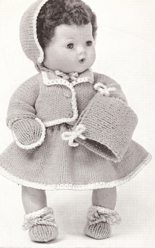 Baby Doll Clothes Knitting Patterns : 15