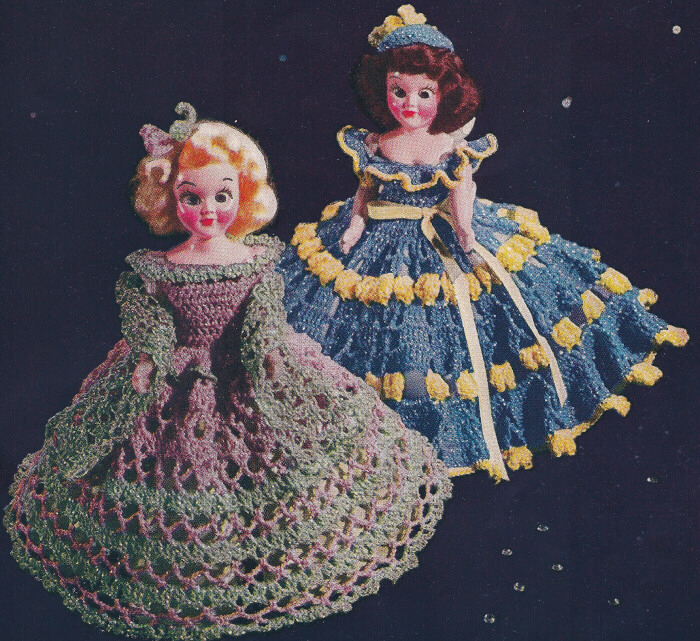 Crocheting Doll Clothes : Vintage Crochet PATTERN to make 7-8-inch Doll Clothes Dress Two Sets ...