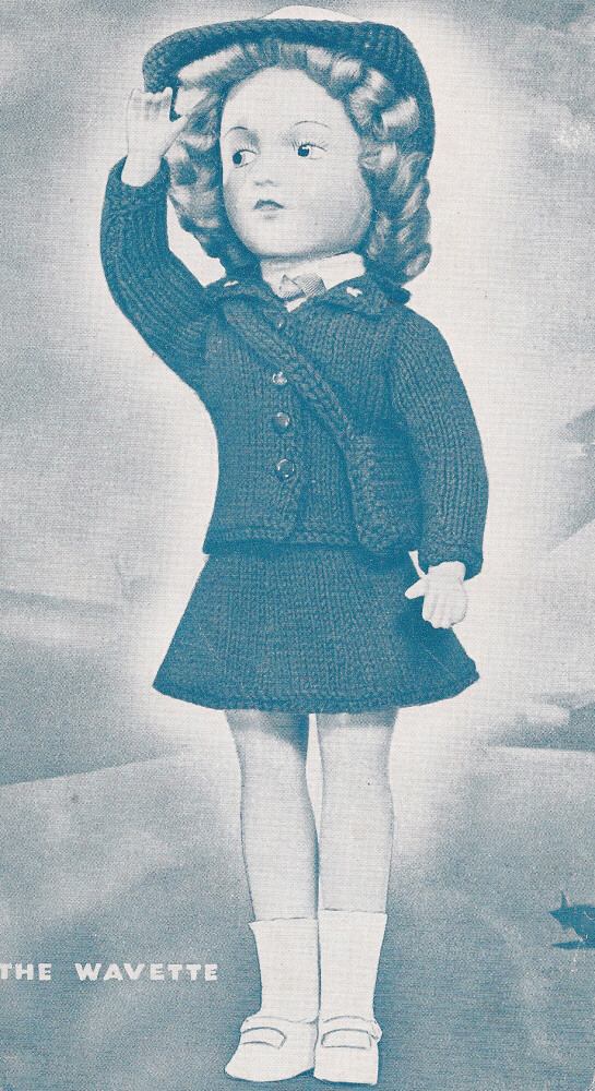 Knitting PATTERN 14 Doll Clothes Military Wavette Uniform Mary Hoyer