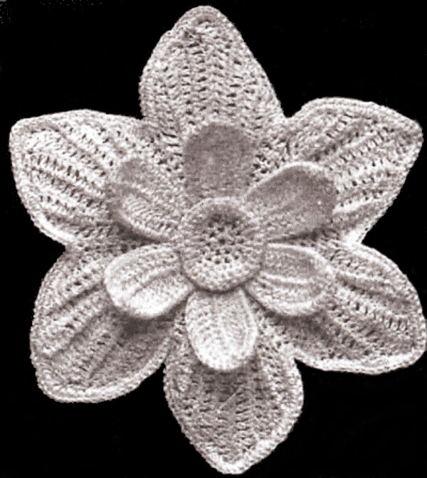 Free Patterns Irish Crochet : Vintage Irish Crochet PATTERN to make Narcissus Flower ...