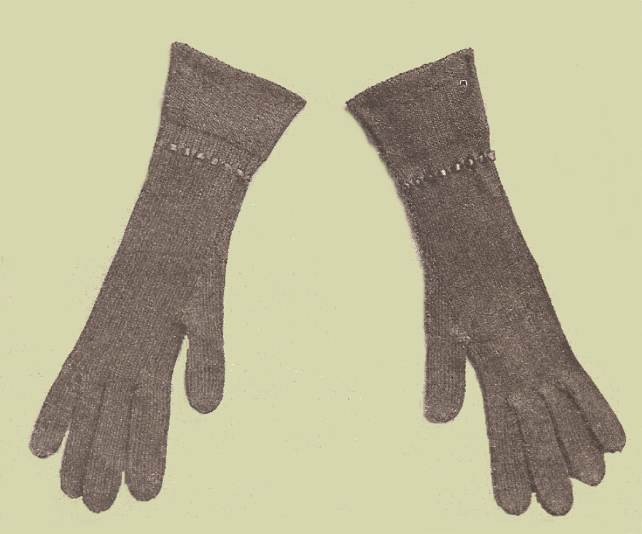 Vintage Antique Womens Long Gloves Knitting PATTERN