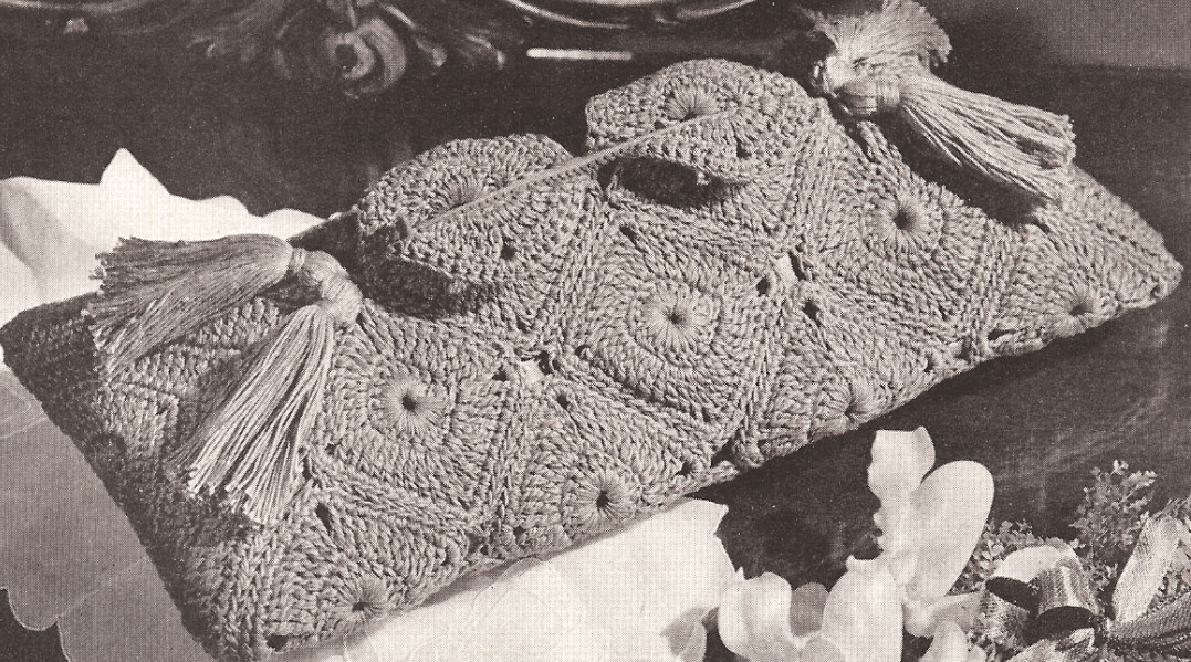 Vintage Crochet Clutch Pattern : Vintage Crochet 3 Motif Bags Clutch Envelope patterns