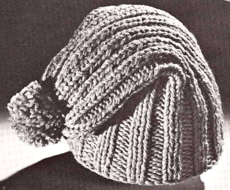 Knitting Pattern Vintage Hat : Beanie SNOW SKI Cap HAT knitting pattern vintage eBay