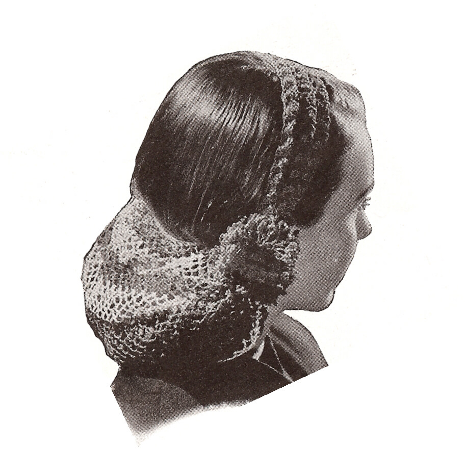 Crochet Hair Net Snood Pattern : Vintage Crochet Pattern Snood Head Band Hair Net 1940s