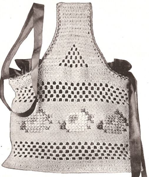 Vintage Crochet PATTERN to make Tote Shopping Work Knitting Bag ...