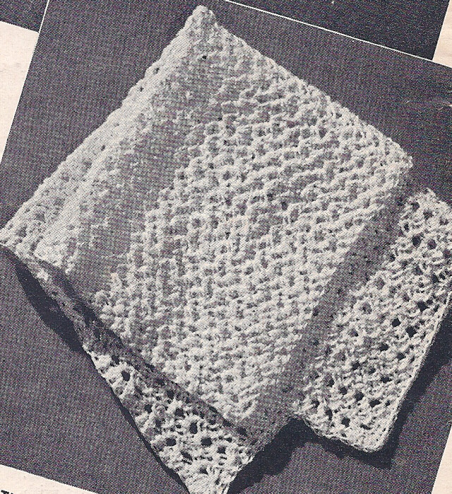 Organic Cotton Crocheted Washcloth -- Free Crochet Pattern