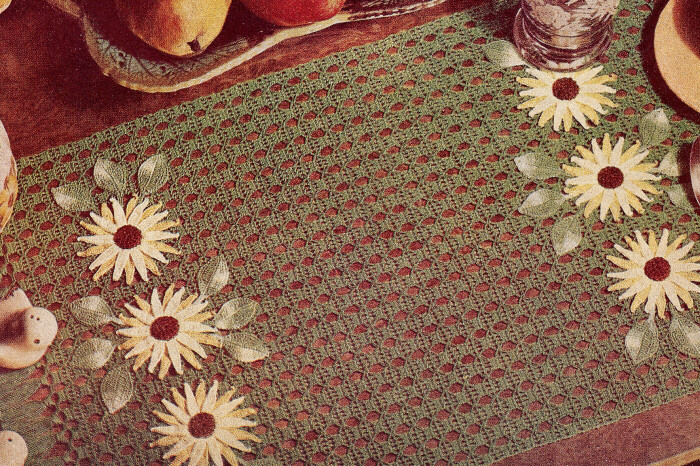 Vintage Crochet PATTERN Flower Placemats Water Lily