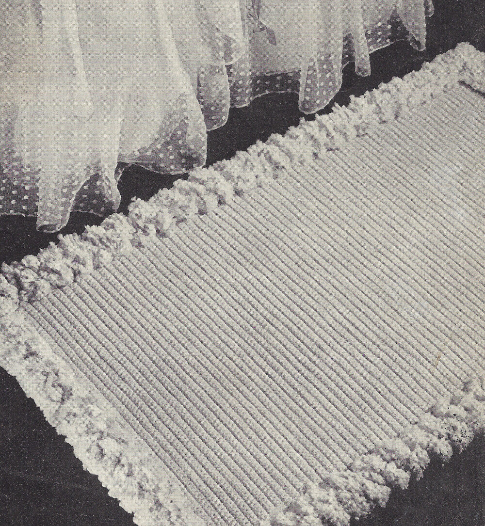 Vintage Crochet PATTERN to make Scatter Throw Rug Bath Mat ...