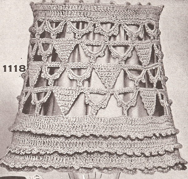 Vintage Antique Crochet Lampshade Candle Shade Pattern | eBay