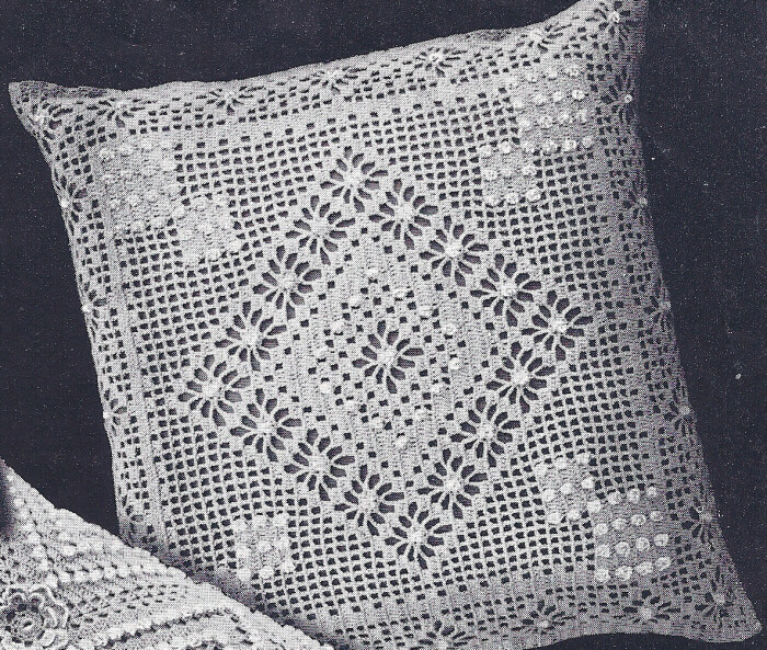 Antique Crochet Patterns : Details about Vintage Crochet PATTERN MOTIF Popcorn Bedspread Pillow