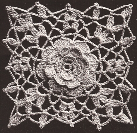 Free Patterns Irish Crochet : Vintage Crochet PATTERN Irish Rose MOTIF Bedspread