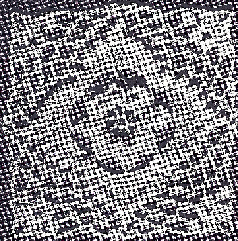 Crochet Stitches Vintage : Vintage Crochet PATTERN to make Irish Rose Bedspread Motif Design ...