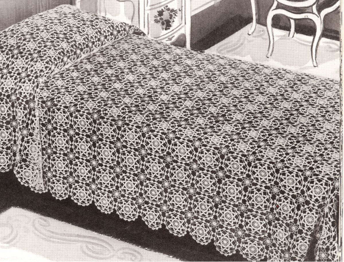 Crochet Bedspread Patterns : Vintage Crochet MOTIF BLOCK Bedspread pattern Dreamaker eBay