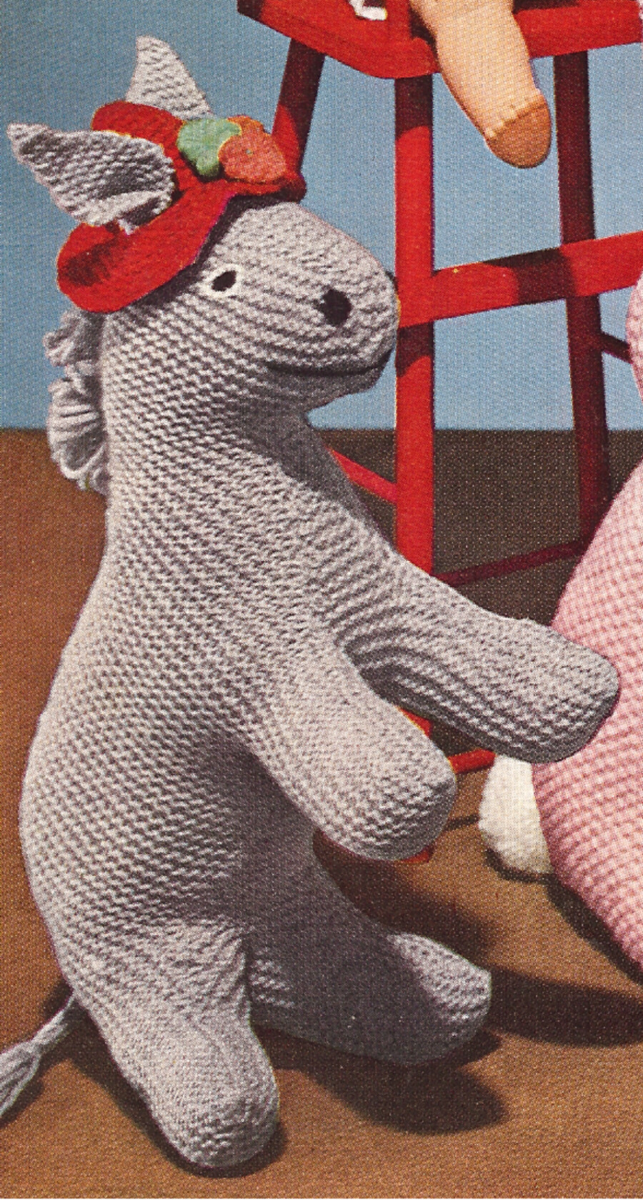 Knitting Pattern For Donkey Hat : Vintage Knitting PATTERN to make Donkey Foal Stuffed ...
