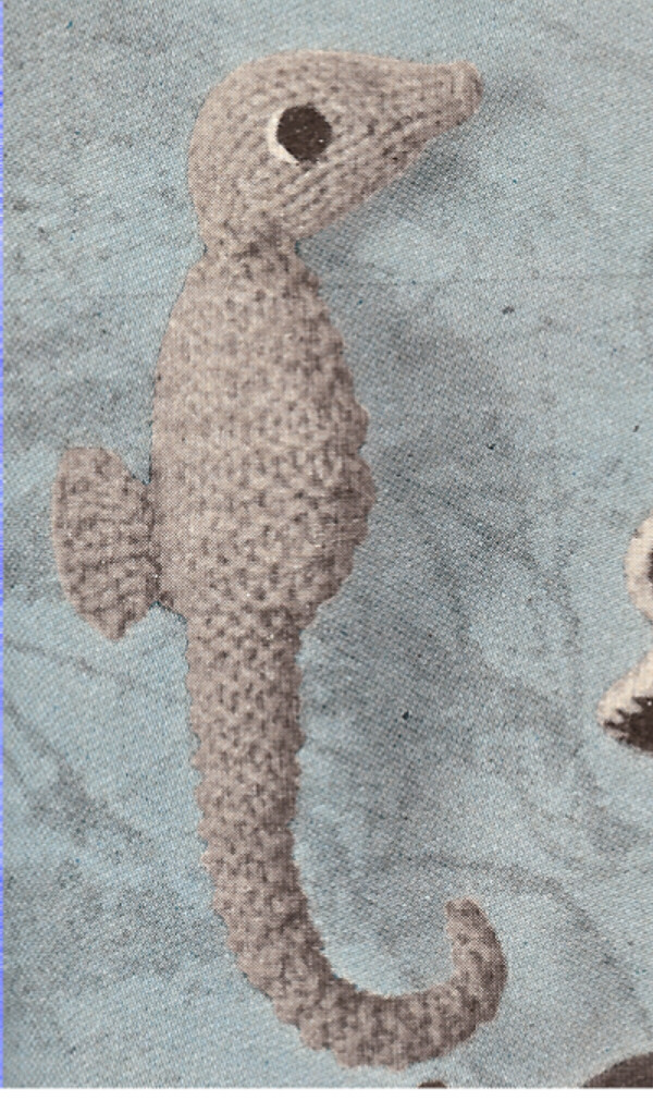 Knitting Patterns For Animals : Seahorse Sea Horse Stuffed Animal Toy Knitting Pattern eBay