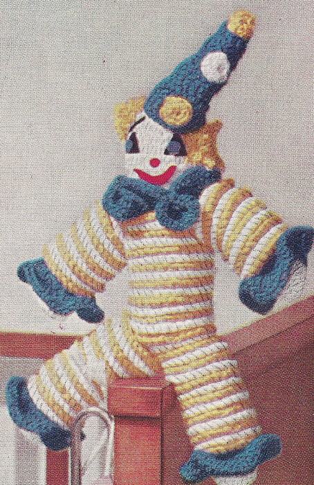 Crochet Patterns Ebay : Details about Vintage Crochet PATTERN Clown Doll Toy Crocheted Rounds
