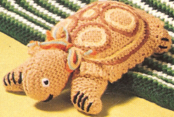 Knitted Turtle Pattern : Vintage Knitting PATTERN to make Turtle Tortoise Stuffed Soft Toy Turtle eBay