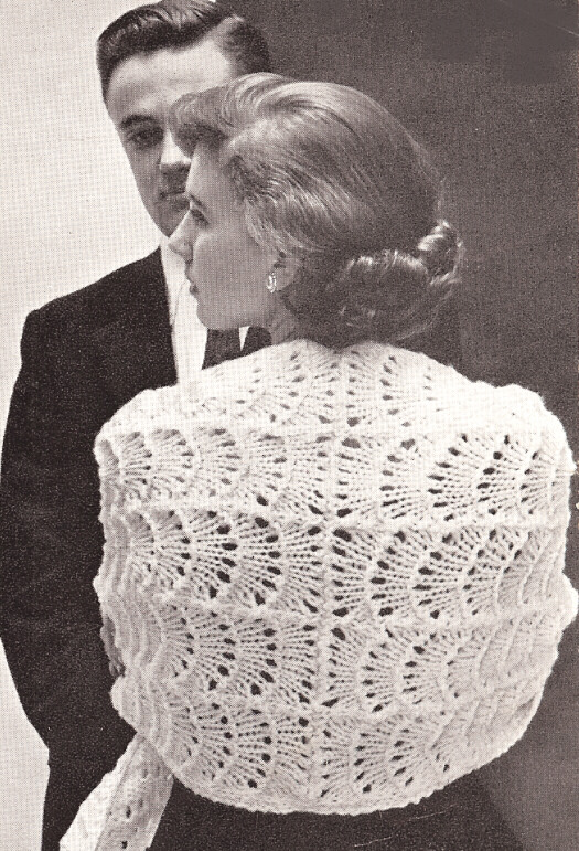 Vintage Knitting Pattern to Make Lace Stole Shawl Evening Wrap Romantic eBay